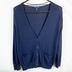 Tommy Hilfiger Navy Cardigan Sweater Large